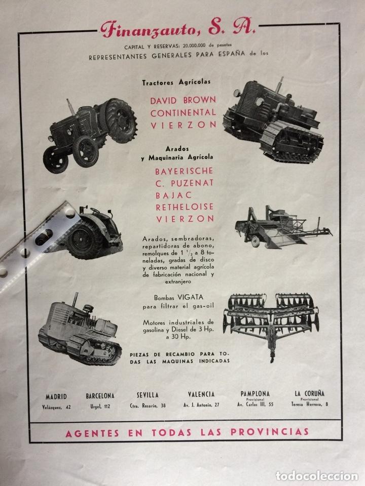 PUBLICIDAD TRACTORES FINANZAUTO DE 1953 (Coleccionismo en Papel - Varios)
