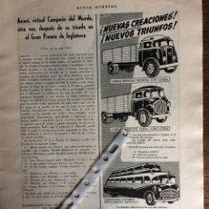Coleccionismo Papel Varios: PUBLICIDAD CAMIÓN TALLERES NÁPOLES DE 1953 ZARAGOZA. Lote 172925199