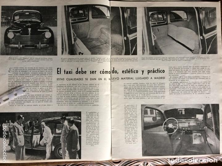 REPORTAJE AUTOMÓVIL PEUGEOT 203 DE 1953 (Coleccionismo en Papel - Varios)