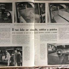 Coleccionismo Papel Varios: REPORTAJE AUTOMÓVIL PEUGEOT 203 DE 1953. Lote 172925282