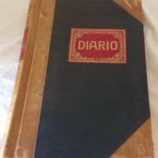 Coleccionismo Papel Varios: LIBRO DIARIO, DE CONTABILIDAD, AÑOS 30, VINTAGE, SIN USO. GRAN FORMATO. (40 X 28,5 X 3,5 CM.). Lote 172965558