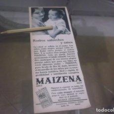 Coleccionismo Papel Varios: RECORTE PUBLICIDAD AÑO 1933 - MAIZENA. Lote 173062257