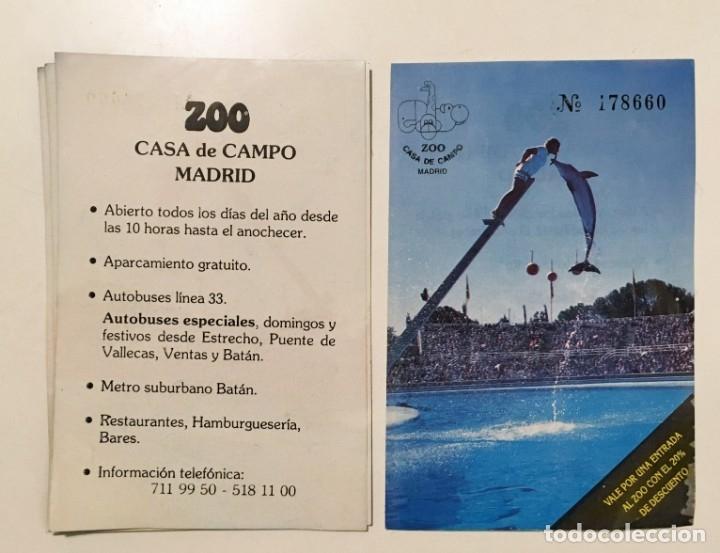 4 VALES POR UNA ENTRADA AL ZOO DE MADRID (Coleccionismo en Papel - Varios)