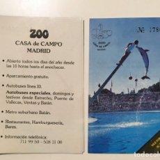 Coleccionismo Papel Varios: 4 VALES POR UNA ENTRADA AL ZOO DE MADRID. Lote 173353445