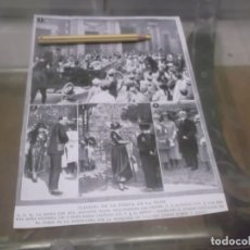 Altri oggetti di carta: RECORTE AÑO 1919 - MADRID , S.M. LA REINA Y SUS HIJOS EN LA FIESTA DE LA FLOR. Lote 173466984