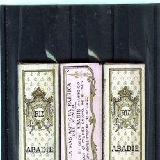 Coleccionismo Papel Varios: TRES LIBRITOS PAPEL DE FUMAR ANTIGUO (ABADIE) .. Lote 173491409
