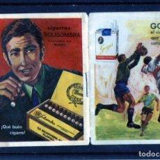 Coleccionismo Papel Varios: CALENDARIO DE FUTBOOL TEMPORADA 1969/70-PUBLICIDAD=CIGARROS SOLISOMBRA Y CIGARRILLOS GOYA=VER FOTOS.. Lote 173491782