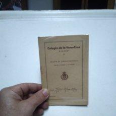 Coleccionismo Papel Varios: COLEGIO DE LA VERA-CRUZ. BILBAO. BOLETIN DE CORRESPONDENCIA. AÑOS 50.. Lote 173523888