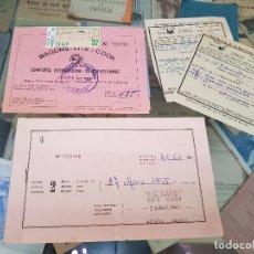 Coleccionismo Papel Varios: ANTIGUOS BILLETES TREN RENFE AÑOS 60. Lote 173561110