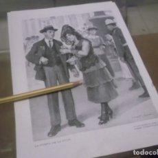 Altri oggetti di carta: RECORTE AÑO 1919 - MADRID , DIBUJO LA FIESTA DE LA FLOR , POR T ALBERTÍ Y BARCELÓ. Lote 173660763