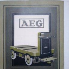 Coleccionismo Papel Varios: AEG. CARRETONES ELECTRICOS. AEG IBERICA. MADRID. PUBLICIDAD AÑOS 30.. Lote 173665778