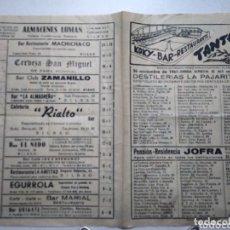 Coleccionismo Papel Varios: TANTEADOR. BOLETIN DEPORTIVO LOCAL. AÑO 1961. INDAUCHU. BILBAO.. Lote 173667455