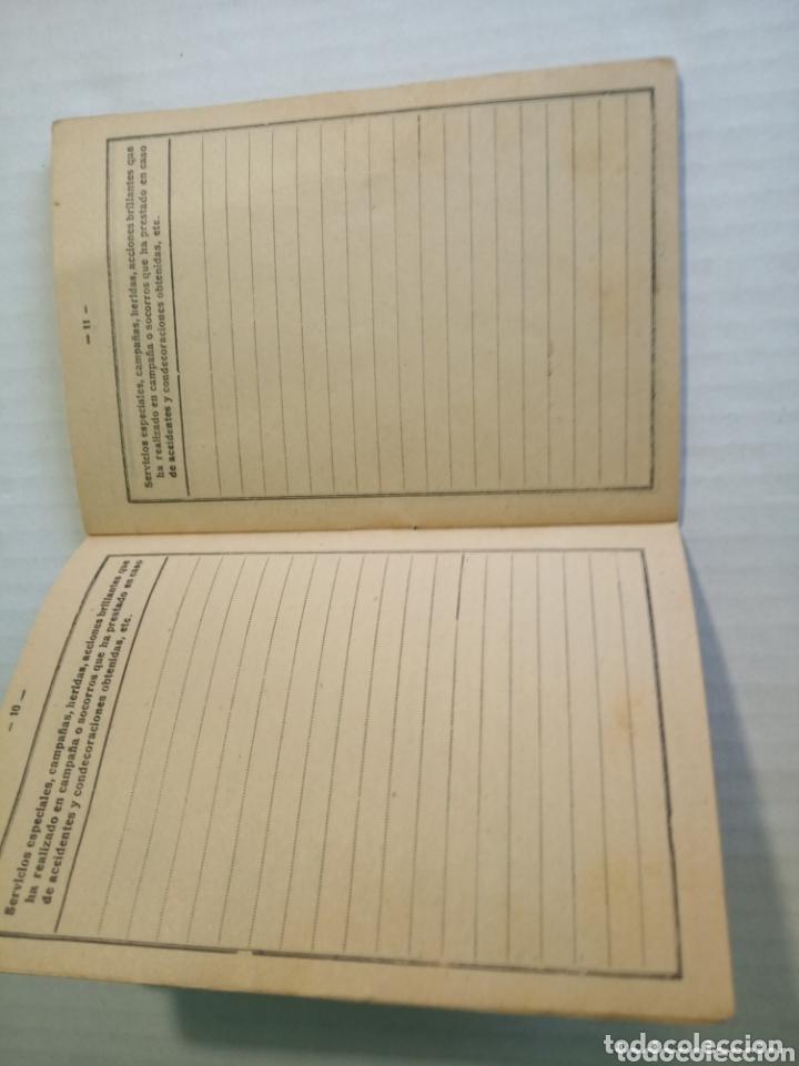 Coleccionismo Papel Varios: Cartilla militar - Foto 6 - 173870759