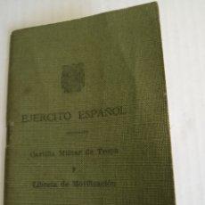 Coleccionismo Papel Varios: CARTILLA MILITAR. Lote 173870759