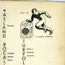 Coleccionismo Papel Varios: LAMINA DE PUBLICIDAD FIRMA COMERCIAL DE MALAGA-VER FOTO ADICIONAL DEL REVERSO .. Lote 173999860