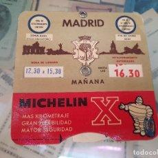 Coleccionismo Papel Varios: ESTACIONAMIENTO VEHICULO AYUNTAMIENTO DE MADRID PUBLICIDAD MICHELIN AÑOS 60. Lote 174007769