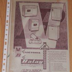 Coleccionismo Papel Varios: PUBLICIDAD DEL AÑO 1961 - BALAY. Lote 174029919