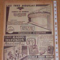 Coleccionismo Papel Varios: PUBLICIDAD DEL AÑO 1961 . Lote 174033007