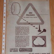 Coleccionismo Papel Varios: PUBLICIDAD DEL AÑO 1961 - FIRESTONE. Lote 174034265