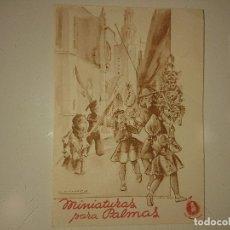 Coleccionismo Papel Varios: ANTIGUO IMPRESO PUBLICITARIO MINIATURAS PARA PALMAS , LEER DESCIPCION. Lote 174048934