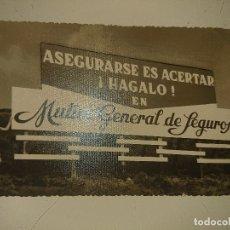 Coleccionismo Papel Varios: ANTIGUO IMPRESO PUBLICITARIO MUTUA GENERAL DE SEGUROS - ALMAR PUBLICIDAD EN CARRET , LEER DESCIPCION. Lote 174048943
