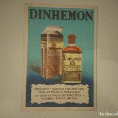 Coleccionismo Papel Varios: ANTIGUO IMPRESO PUBLICITARIO DINHEMON DE IFABI , LEER DESCIPCION. Lote 174049100