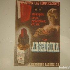 Coleccionismo Papel Varios: ANTIGUO IMPRESO PUBLICITARIO ARGEDRINA LABORATORIOS FARBIOS , LEER DESCIPCION. Lote 174049104