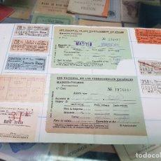 Coleccionismo Papel Varios: ANTIGUOS BILLETES AUTOBUS TRANSPORTE MADRID. Lote 219019342