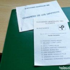 Coleccionismo Papel Varios: DOS PAPELETAS Y SOBRE DEL PSOE. ELECCIONES DE 1982. ALICANTE. Lote 174253648