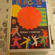 Coleccionismo Papel Varios: PROGRAMA DE FIESTAS DE BURGOS 1991. Lote 174258170