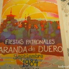 Coleccionismo Papel Varios: PROGRAMA DE FIESTAS DE ARANDA DE DUERO AÑO 1984. Lote 174336929