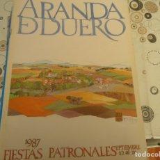 Coleccionismo Papel Varios: PROGRAMA DE FIESTAS DE ARANDA DE DUERO AÑO 1987. Lote 174337068