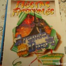 Coleccionismo Papel Varios: PROGRAMA DE FIESTAS DE ARANDA DE DUERO AÑO 1993. Lote 174337330