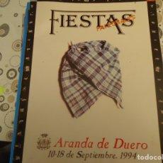 Coleccionismo Papel Varios: PROGRAMA DE FIESTAS DE ARANDA DE DUERO AÑO 1994. Lote 174337509