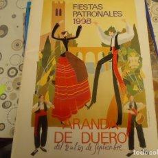Coleccionismo Papel Varios: PROGRAMA DE FIESTAS DE ARANDA DE DUERO AÑO 1998. Lote 174337779