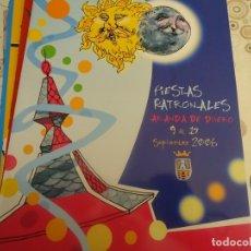 Coleccionismo Papel Varios: PROGRAMA DE FIESTAS DE ARANDA DE DUERO AÑO 2006. Lote 174338082