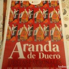 Coleccionismo Papel Varios: PROGRAMA DE FIESTAS DE ARANDA DE DUERO AÑO 2018. Lote 174338604