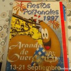Coleccionismo Papel Varios: PROGRAMA DE FIESTAS DE ARANDA DE DUERO AÑO 1997 PUBLICITARIO. Lote 174347732