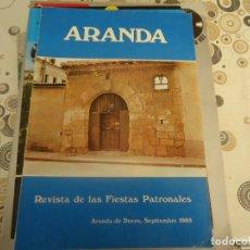Coleccionismo Papel Varios: PROGRAMA DE FIESTAS DE ARANDA DE DUERO AÑO 1985 PUBLICITARIO. Lote 174348312