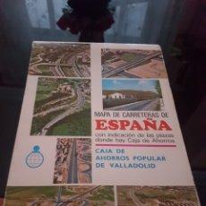 Coleccionismo Papel Varios: MAPA DE CARRETERAS DE ESPAÑA CAJA DE AHORROS POPULAR DE VALLADOLID. Lote 174512333