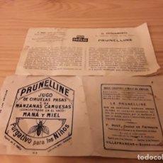 Coleccionismo Papel Varios: ANTIGUA PUBLICIDAD DE PRUNELLINE . Lote 174522869