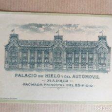 Coleccionismo Papel Varios: 1921 MADRID. GRAN CONCURSO MUNDIAL DE BELLEZA, PALACIO DE HIELO Y DEL AUTOMÓVIL. Lote 174650337