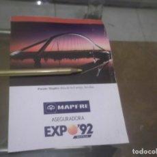 Coleccionismo Papel Varios: RECORTE PUBLICIDAD AÑOS 1992 - MAPFRE . EXPO - 92 - SEVILLA. Lote 175259055