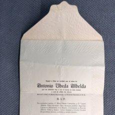Coleccionismo Papel Varios: CARCAGENTE (VALENCIA) OBITUARIO/RECORDATORIO. CARCAGENTE NOVIEMBRE DE 1953.. Lote 175365134
