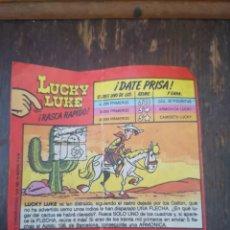 Coleccionismo Papel Varios: RASCA RÁPIDO LUCKY LUKE. Lote 175409990