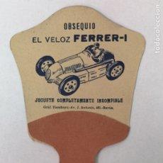 Coleccionismo Papel Varios: PAY PAY JUGUETE EL VELOZ FERRER-I. Lote 175522214