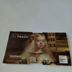 Coleccionismo Papel Varios: ENTRADA MUSEO DEL PRADO MADRID 2019. Lote 175989483
