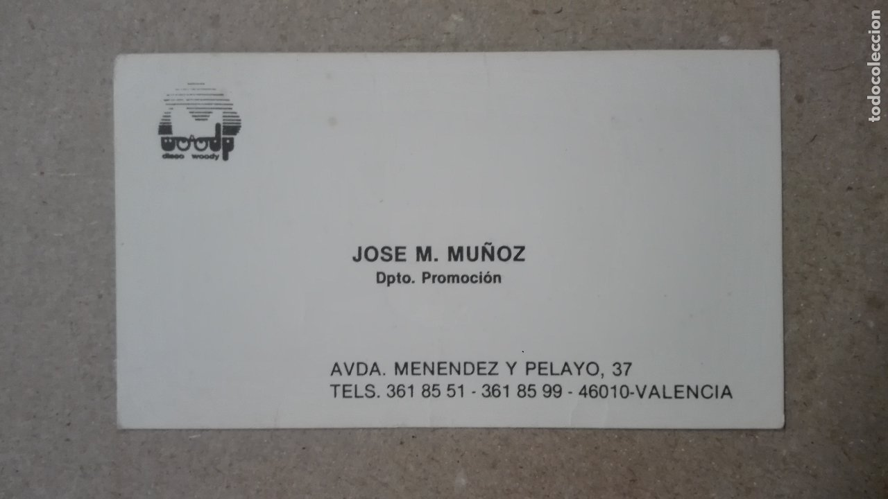 Tarjeta Vip Invitacion Entrada Descuento Discoteca Woody 1988 Discotecas Valencia