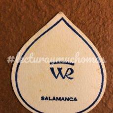 Coleccionismo Papel Varios: ANTIGUO POSAVASOS DEL WR DE SALAMANCA. 8 X 11 CMS. DE PAPEL.. Lote 176223242