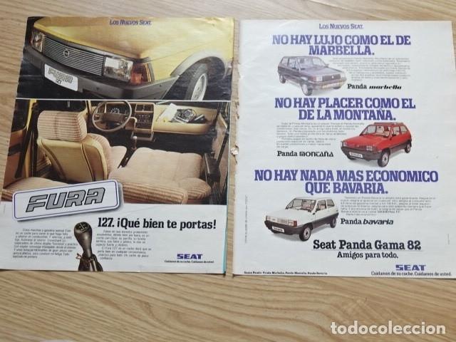 RECORTE PUBLICIDAD AÑOS 80 - SEAT PANDA FURA 127 MARBELLA MONTAÑA BAVARIA GAMA 82 (Coleccionismo en Papel - Varios)